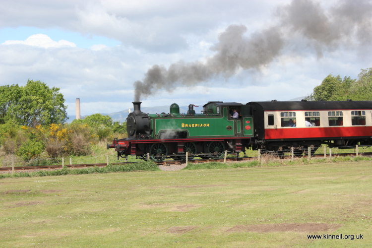 Steam train on Bo'ness and Kinneil Railway.