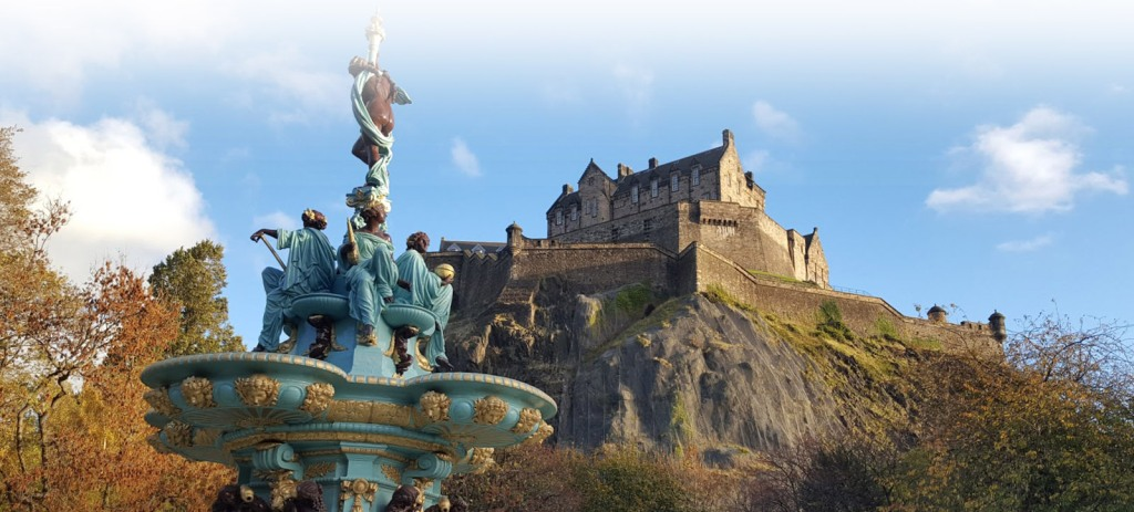 Edinburgh Castle from Princes Street Gardens.