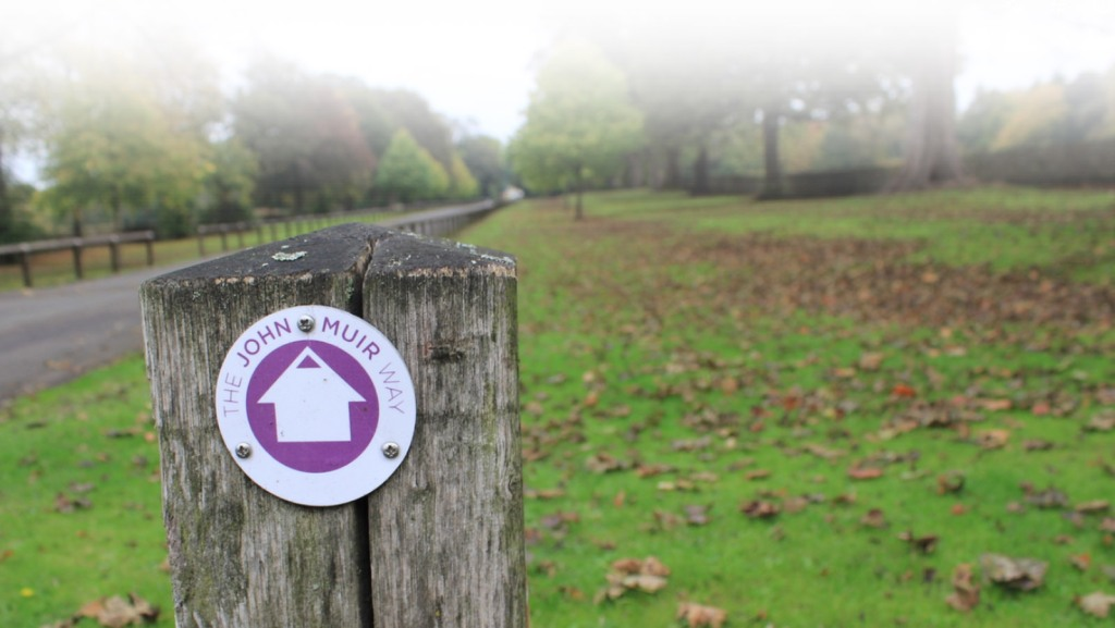 John Muir Way sign at Kinneil Estate, Bo'ness
