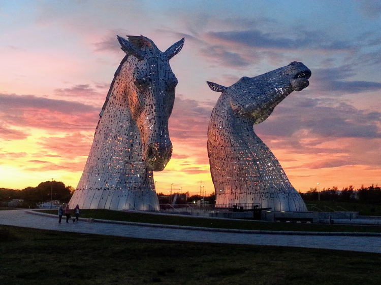 The Kelpies sculptures